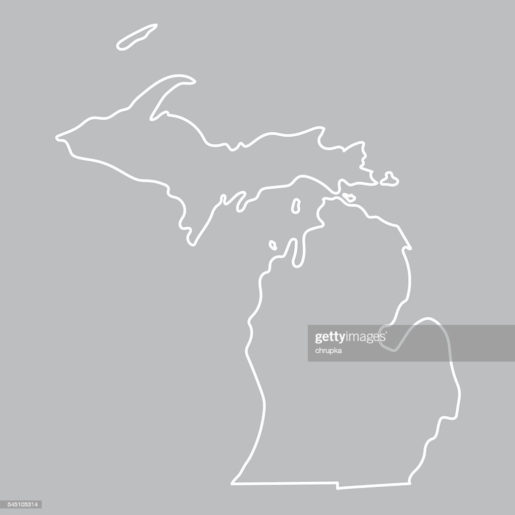 abstract outline of Michigan map