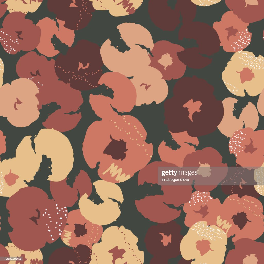 Abstract painting universal freehand floral seamless pattern. Graphic design for background, card, banner, poster, cover, invitation, fabric, header or brochure