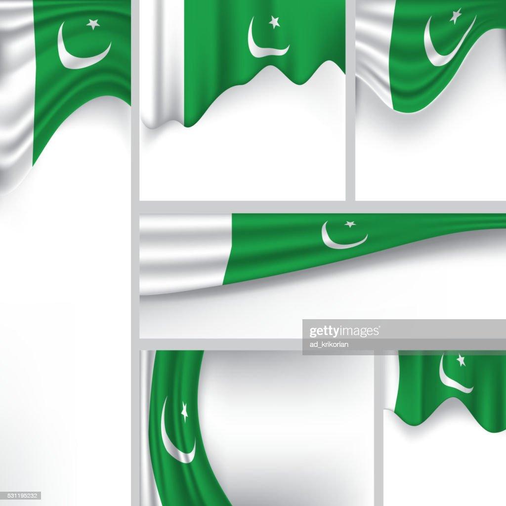 Abstract Pakistan Flag, Pakistani Vector Flag (Vector Art)