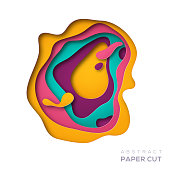 Abstract paper cut shape