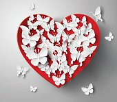 Abstract paper hearts