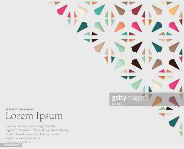 abstract papercutting style floral pattern background - flower stock illustrations