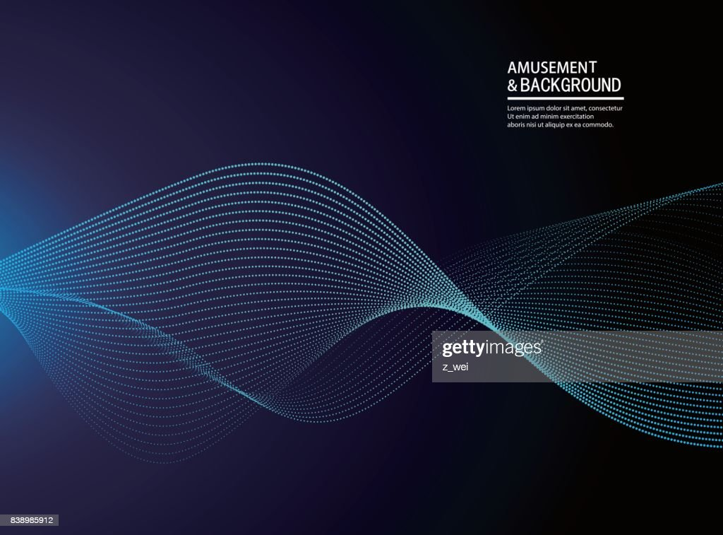 Abstract particle background