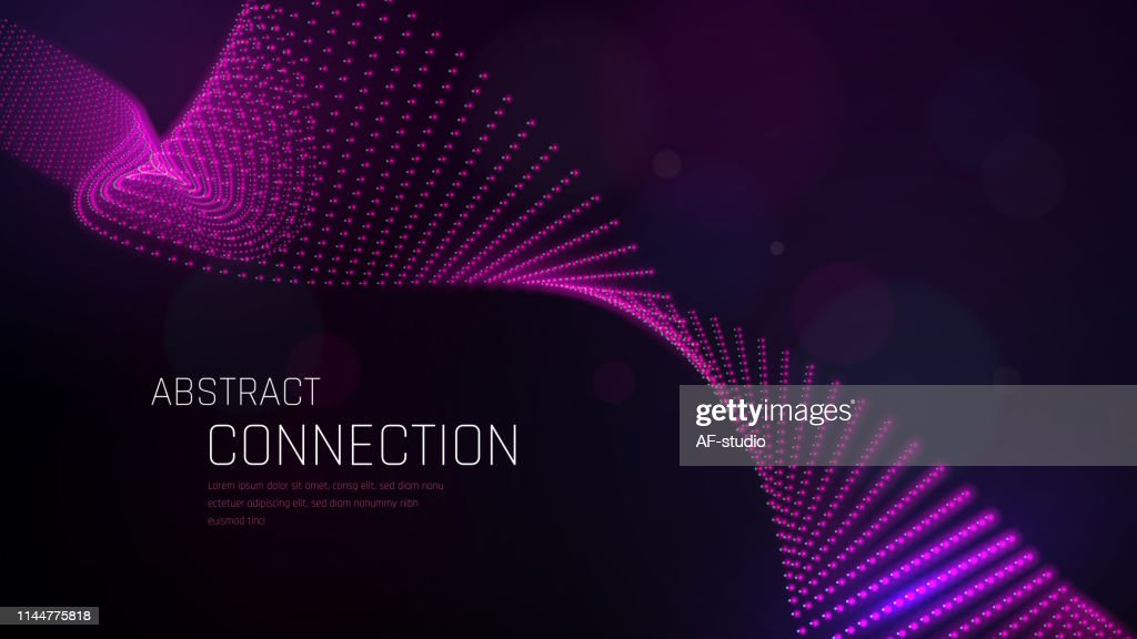Abstract Particle Background with Copy Space : stock vector