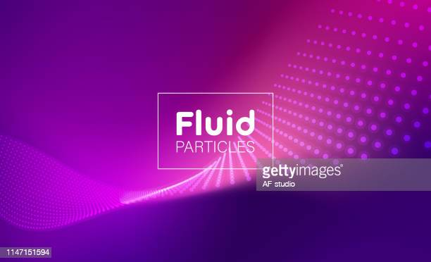 abstract particle background with copy space - purple stock illustrations