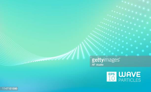 Abstract Particle Background with Copy Space