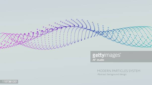abstract particle background with copy space - twisted stock illustrations