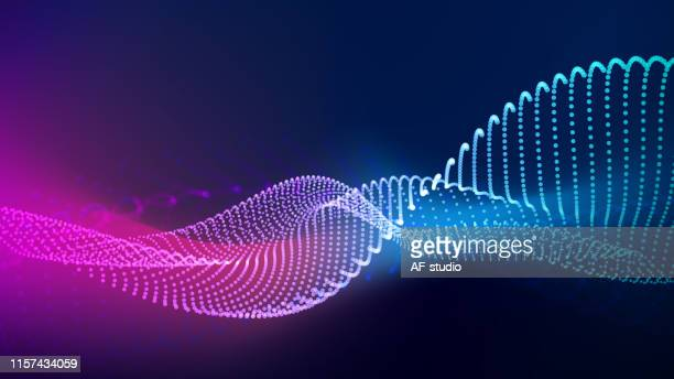 abstract particle background with copy space - oscilloscope stock illustrations