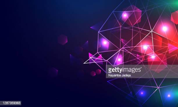 stockillustraties, clipart, cartoons en iconen met abstracte deeltjesachtergrond met kopieerruimte - oscilloscoop