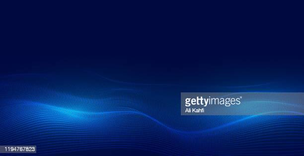 abstract particle technology background - science and technology stock illustrations