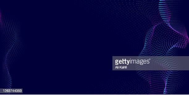 abstract particle technology background - big data stock illustrations