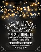 Abstract Party Lights Invitation