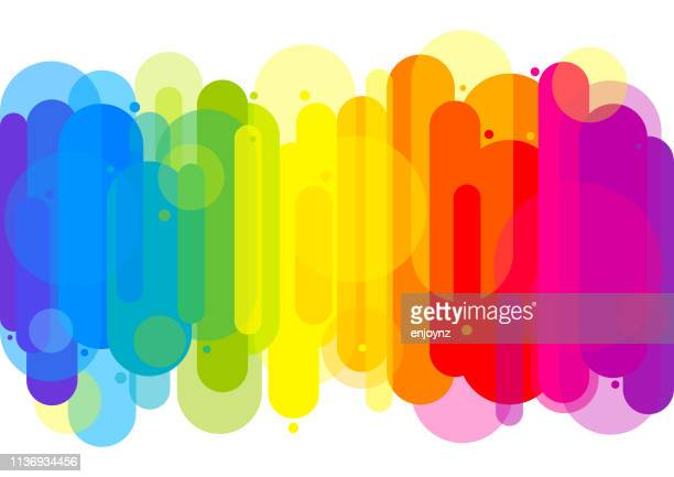 abstract pattern background - rainbow stock illustrations, clip art, cartoons, & icons