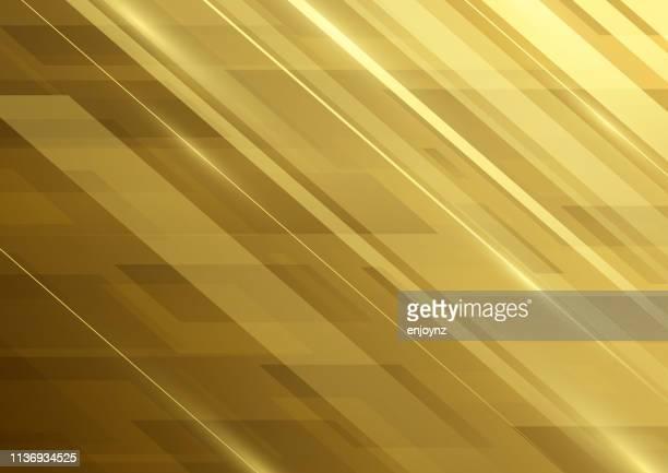 illustrazioni stock, clip art, cartoni animati e icone di tendenza di sfondo del modello astratto - oro metallo