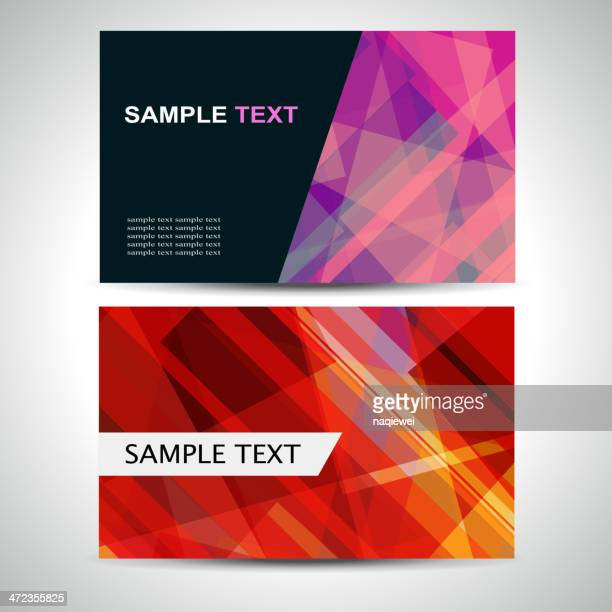 abstract pattern banner card for design