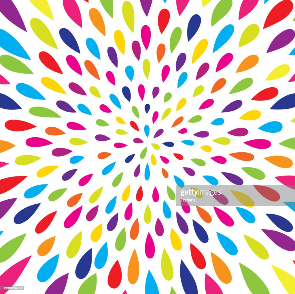 Abstract pattern. Firework spot background. Abstract drop pattern. Rainbow blot confetti blow pattern