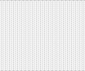Abstract pattern of knitted texture, white yarn on gray background. Vector illustration, EPS10.