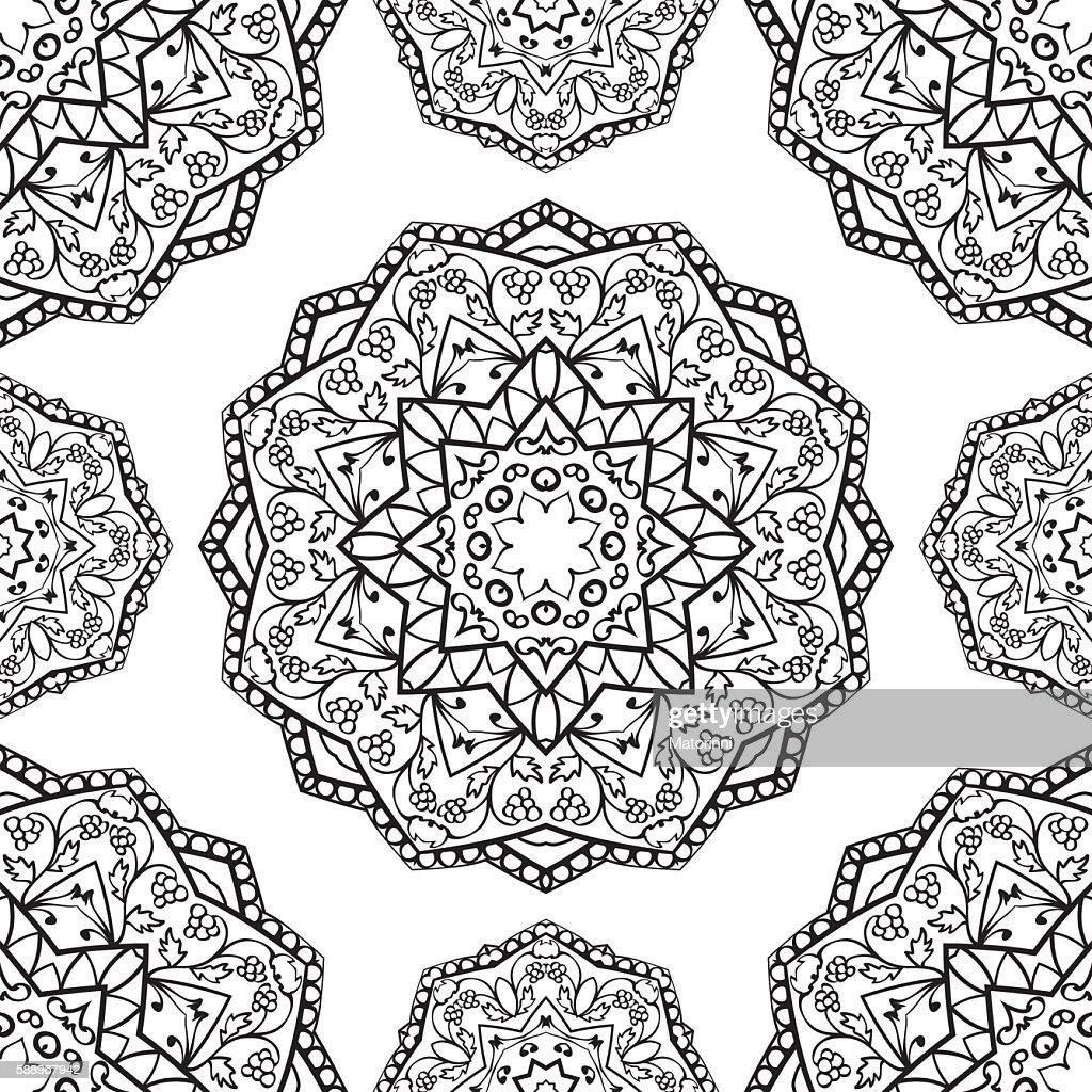 Abstract pattern of mandalas.