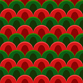 abstract peacock seamless vector pattern Christmas colors