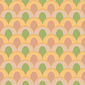abstract peacock seamless vector pattern light colors