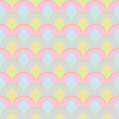 abstract peacock seamless vector pattern pastel colors