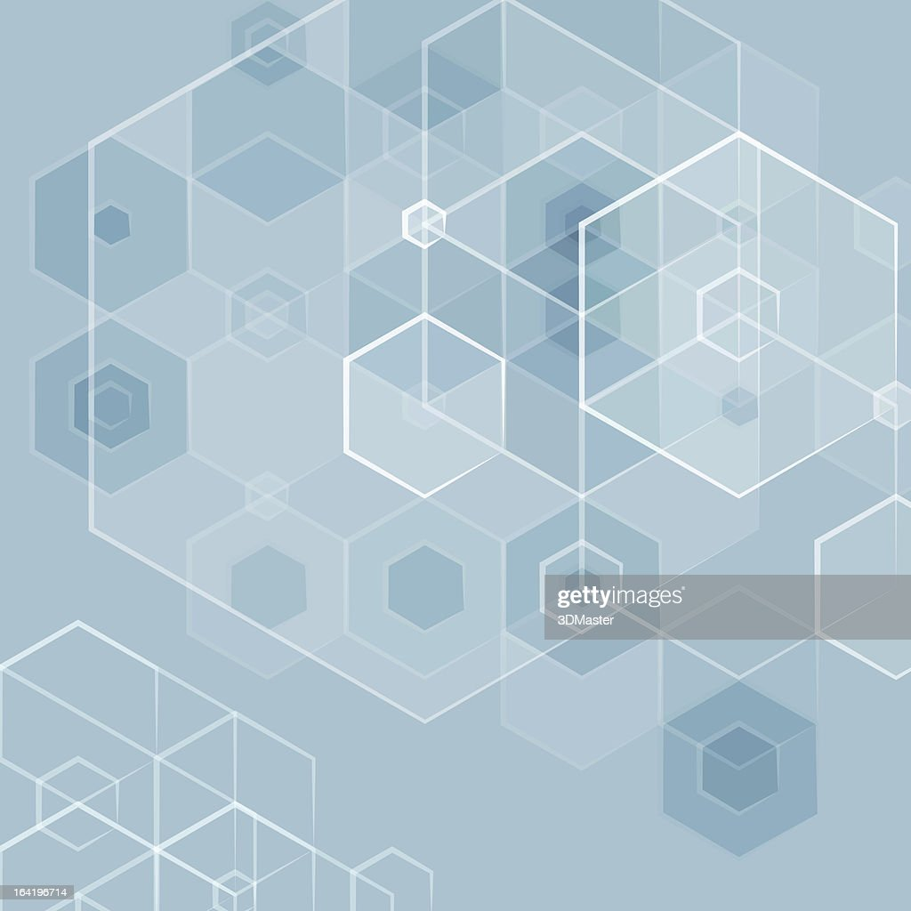 Abstract pentagon blue vector background