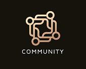 Abstract People Monogram Symbol, Template Design Vector, Emblem, Concept Design, Creative Symbol, Icon