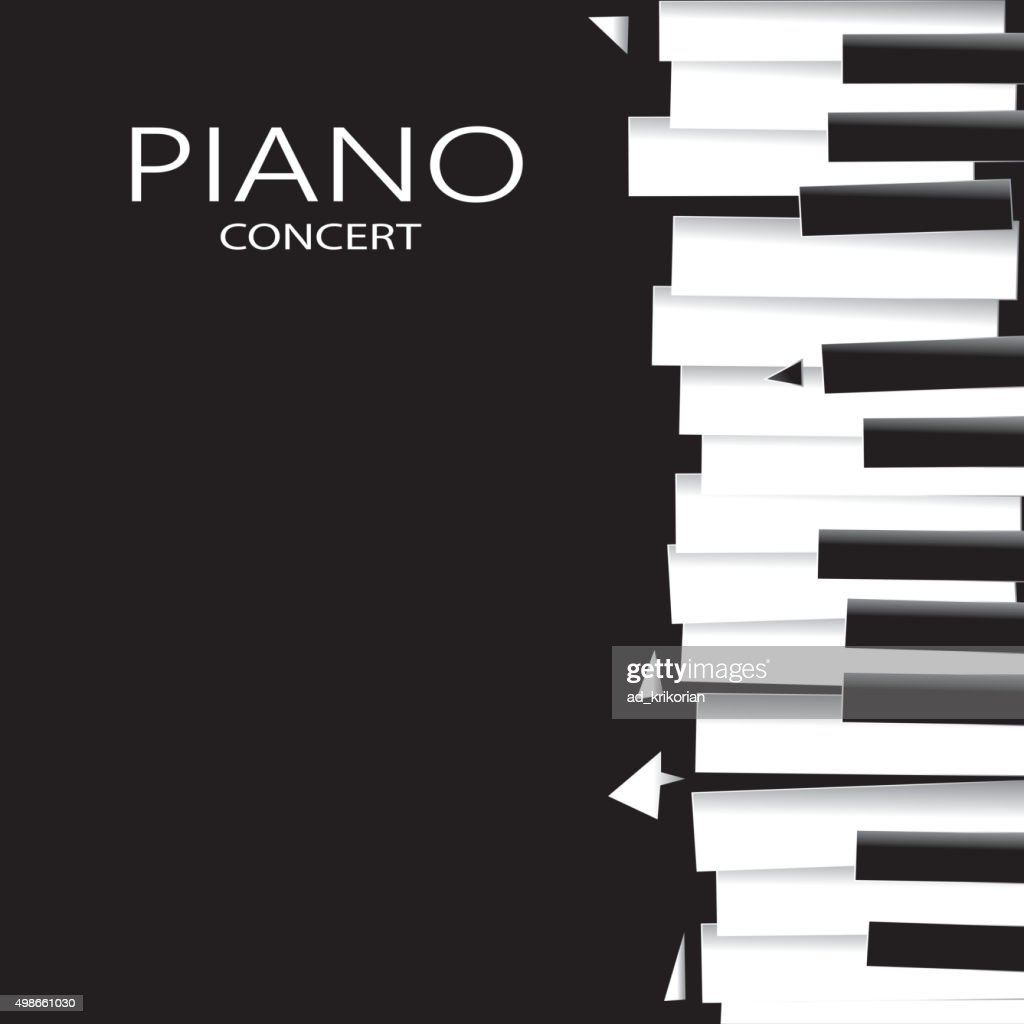 Abstract Piano Poster, Music Abstract Art (Vector Art)