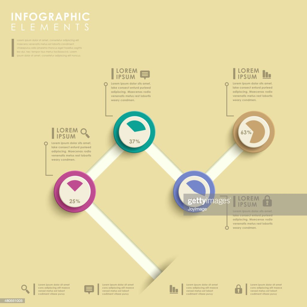 abstract pie chart infographics : Vector Art