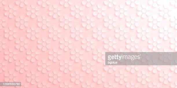 抽象的なピンクの背景 - 花のパターン - パステルカラー点のイラスト素材/クリップアート素材/マンガ素材/アイコン素材