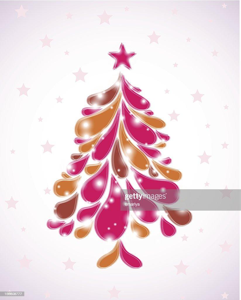 Rosa Weihnachtsbaum.Abstrakte Rosa Weihnachtsbaum Vektor Vektorgrafik Getty Images