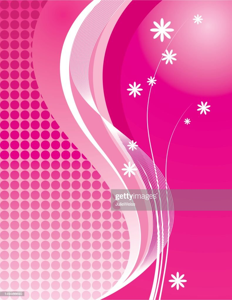 Abstract Pink Floral Background High Res Vector Graphic Getty Images