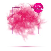 Abstract pink smoke texture template.