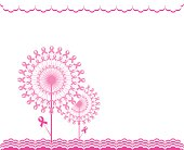 abstract pink Support Ribbon  background