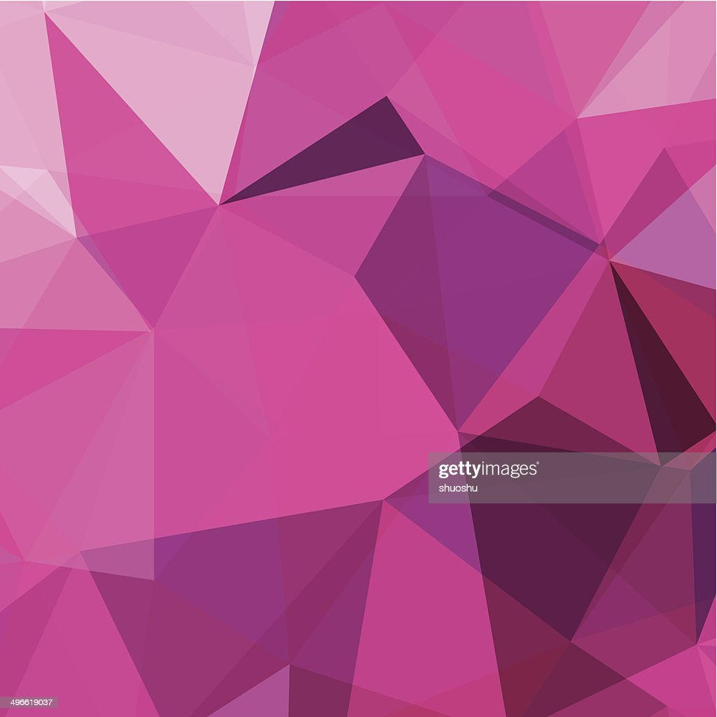 abstract pink triangle pattern background : stock illustration
