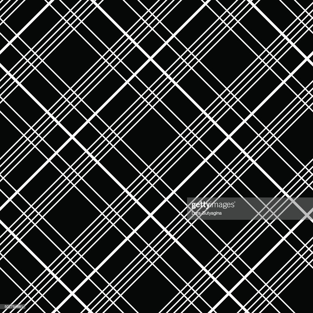 Abstract plaid fabric pattern. Checked material. Seamless vector motif.