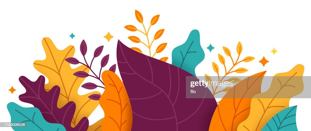 抽象的な植物のボーダー : ストックイラストレーション