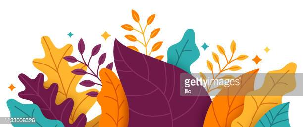 abstract plant border - plant stock illustrations