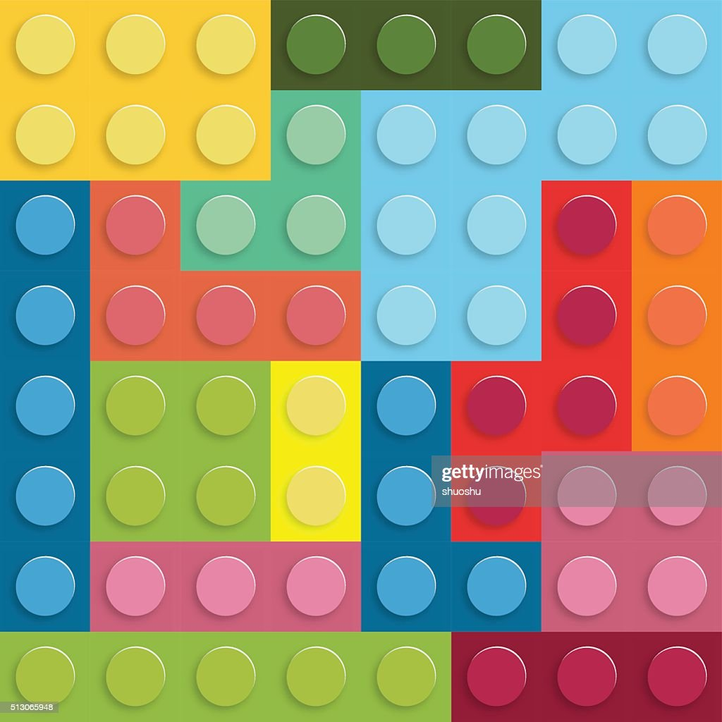 abstract plastic blocks pattern background