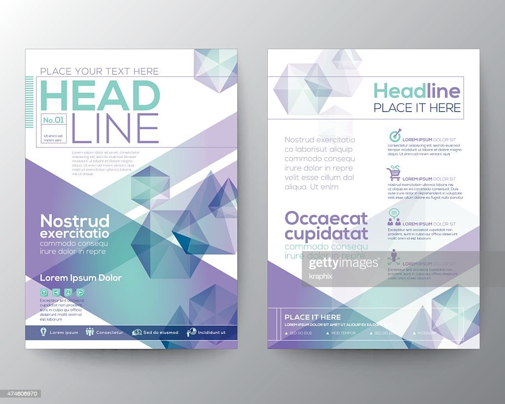 Abstract polygon design vector template layout for magazine brochure flyer