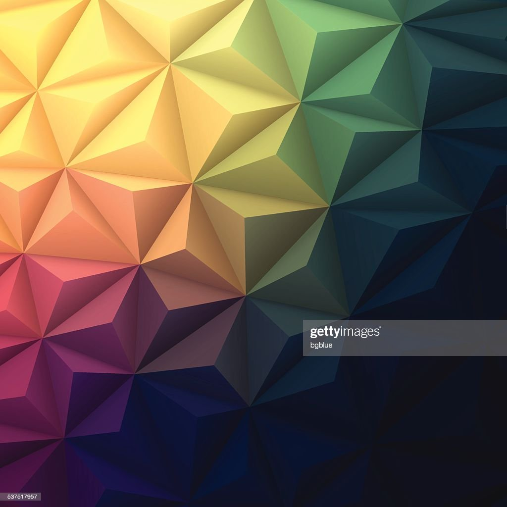 Abstract Polygonal Background For Design   Low Poly, Geometric Vector : Vector  Art