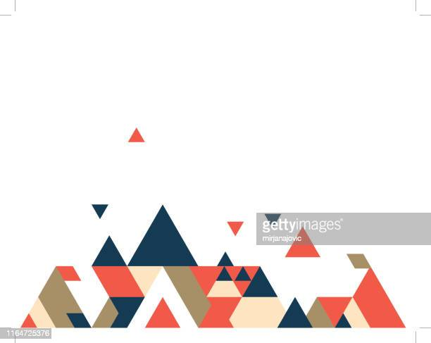 abstract polygonal background stock illustration - mountain stock illustrations