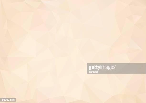 abstrakte polygonal hintergrund - beige stock-grafiken, -clipart, -cartoons und -symbole