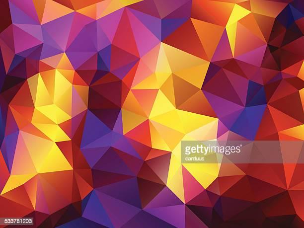 illustrations, cliparts, dessins animés et icônes de fond abstrait polygonal - orange couleur