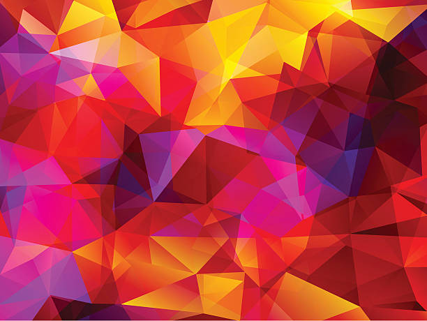 Abstract  Polygonal  Background Wall Art
