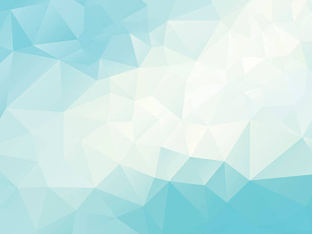 abstract  polygonal blue  background - cool attitude stock illustrations