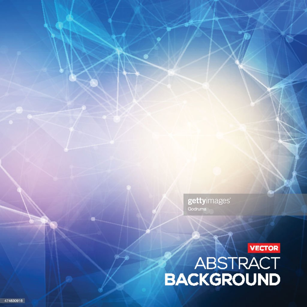 Abstract polygonal blue colorful low poly bright background