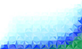 Abstract polygonal color template. Concept design for your business.