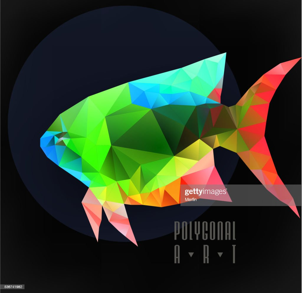 Abstract Polygonal Fish stock illustration - Getty Images