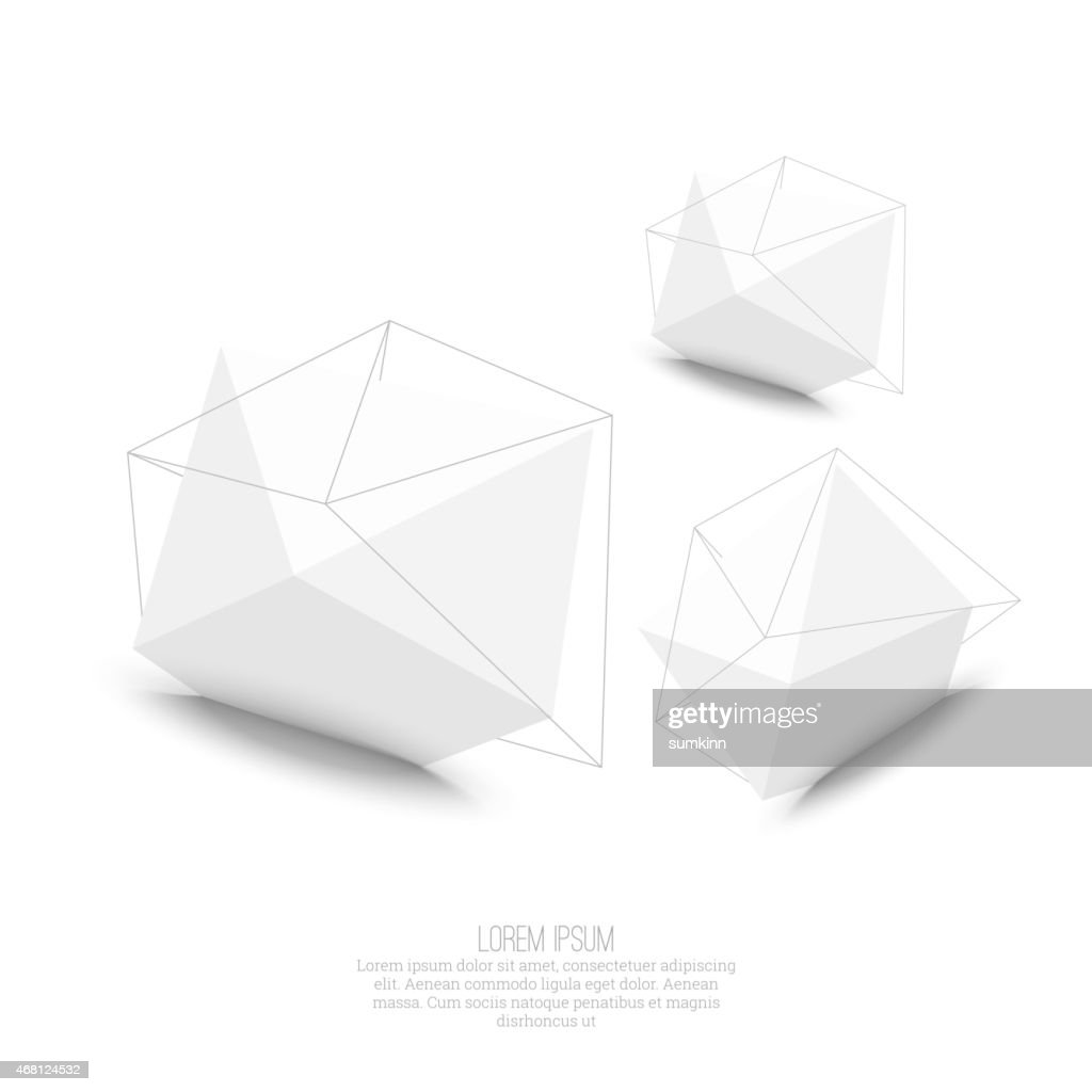 Abstract polygonal geometric shape